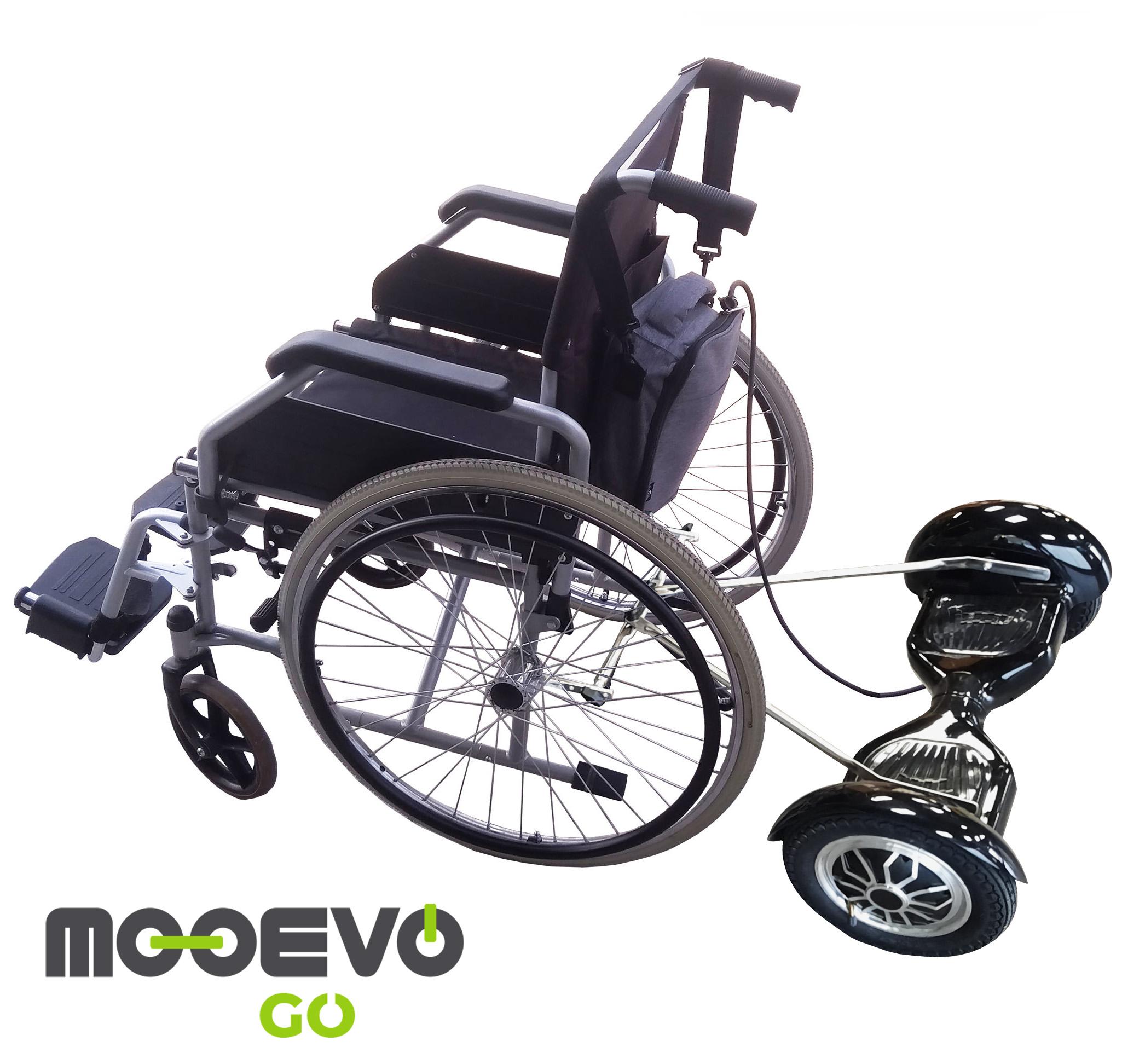 silla de ruedas con motor asistente cuidador mooevo go