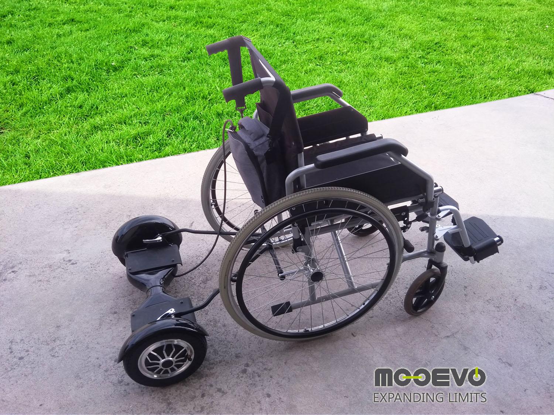 adaptador hoverboard a silla de ruedas