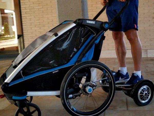 adaptador para hoverboard a carro thule chariot aidwheels mooevo