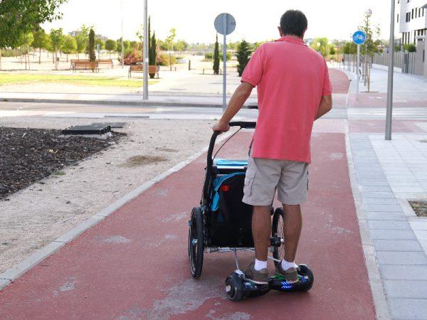 adaptadores para hoverboard a carro thule chariot aidwheels