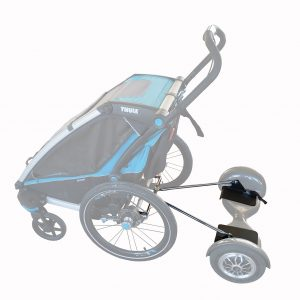 adaptar hoverboard carro thule chariot aidwheels mooevo