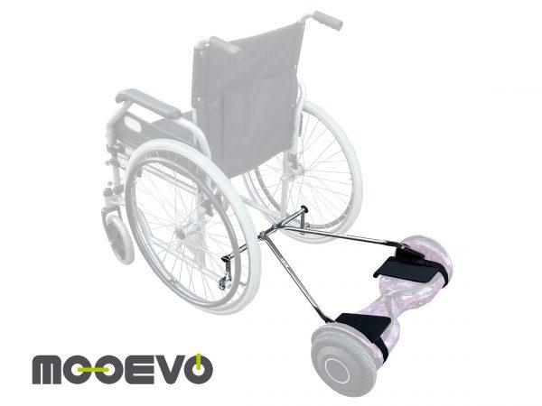 kit adaptador de hoverboard para silla de ruedas instalado mooevo aidwheels