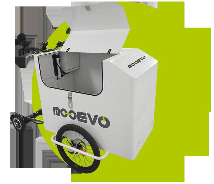 vehiculo electrico reparto urbano sostenible mooevo cargo